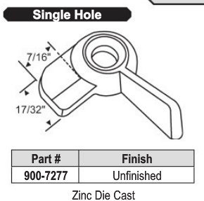 Single Hole Sweep Lock