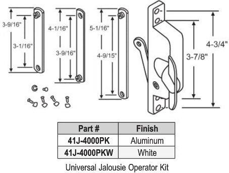 Universal Jalousie Operator Kit