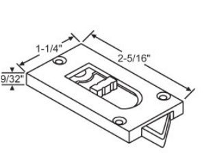 Reversible Tilt Latch