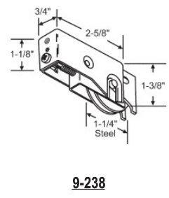1 1/4 Patio Door Roller Assembly