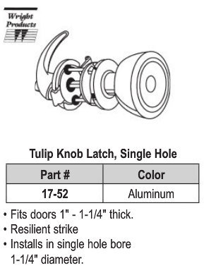 Aluminum Knob Latch Set