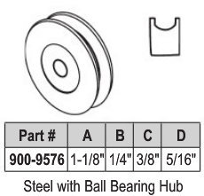 "1 1/8"" Steel Ball Bearing Wheel"