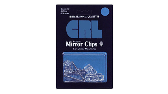 "1/4"" Clear Plastic Mirror Clip"