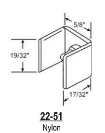 Nylon Shower Door Guide