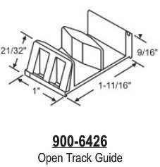 Open Track Shower Door Guide