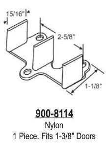 Nylon Closet Door Floor Guide Fits 1 3 8 Doors