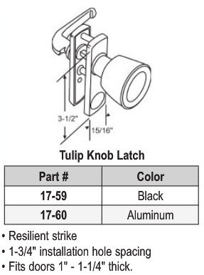 Tulip Knob Latch