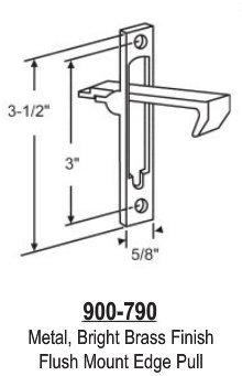 Metal Closet Door Pull