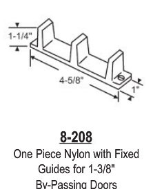 Nylon Closet Door Floor Guide With Fixed Guides For 1 3 8 By Ping Doors