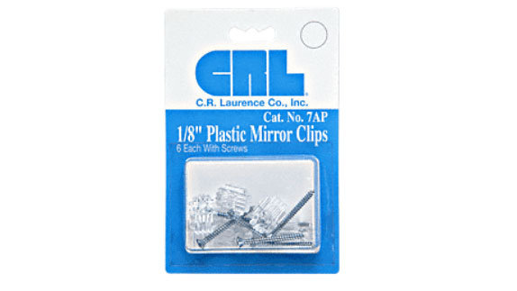 "1/8"" Standard Plastic Mirror Clip"