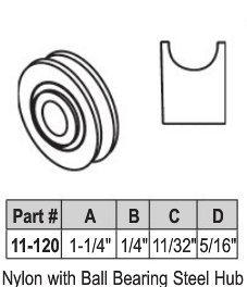"1-1/4"" Nylon Ball Bearing Wheel"