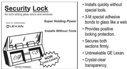 Patio Door and Window Lock