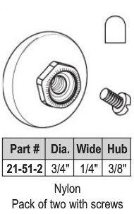 """3/4"""" Oval Shower Roller"""