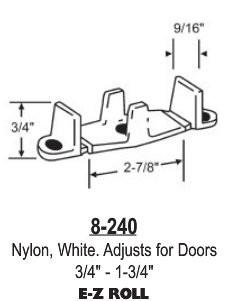 White Nylon Closet Door Guide Adjusts For Doors 3 4 1