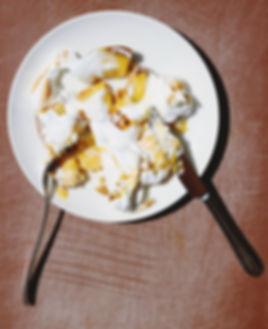 Eating Meringue Cake