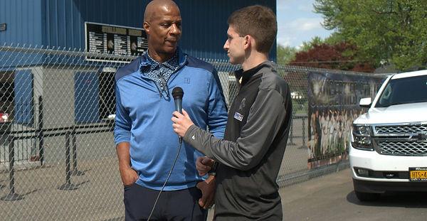 Jon interviewing former MLB All-Star Darryl Strawberry