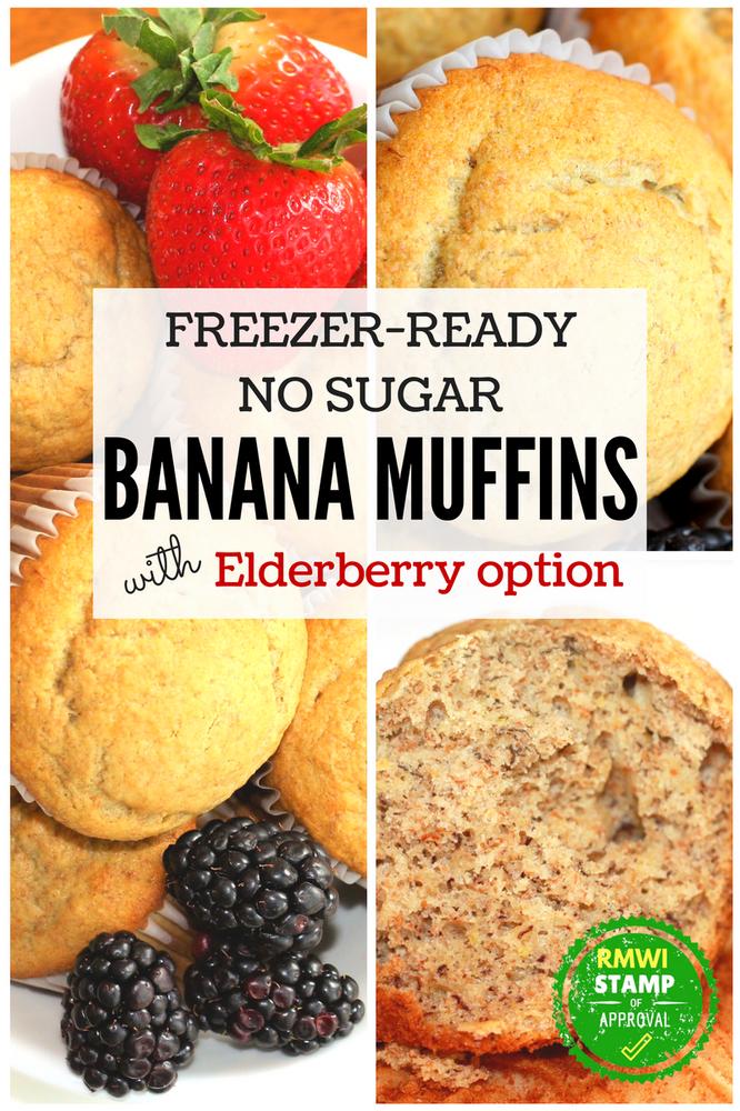 Freezer Ready No Sugar Banana Muffins