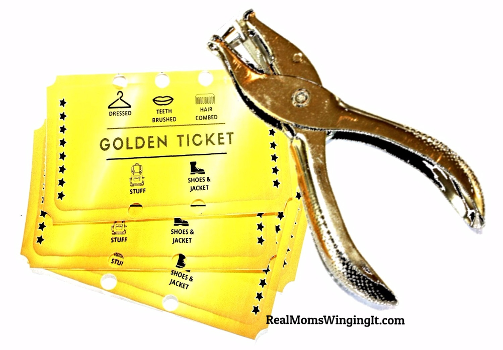 get kids ready with the golden ticket