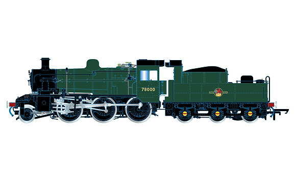 Hornby BR Standard 2MT UnLined Green 78000 - R3839