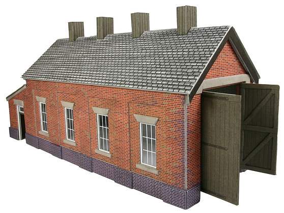 Metcalfe Red Brick Single Track Engine Shed
