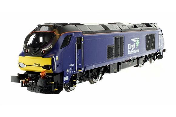 Dapol Class 68 68026 DRS Plain Blue