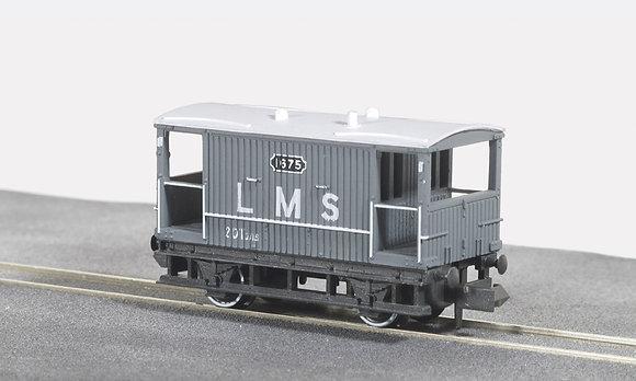 Peco N NR-48M Brake Van LMS Light Grey
