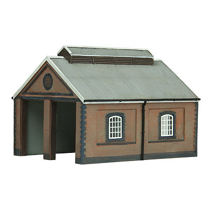 Graham Farish N Two Road Engine Shed - 42-0001