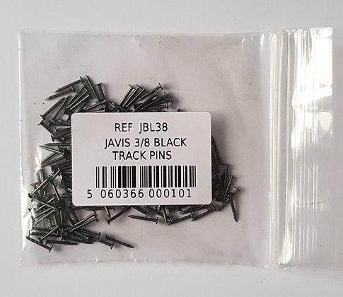 """Javis 3/8"""" Black Track Pins"""