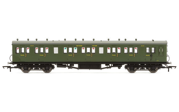Hornby SR 58 Maunsell Six Compartment Brake 3rd Class Coach - R4718A