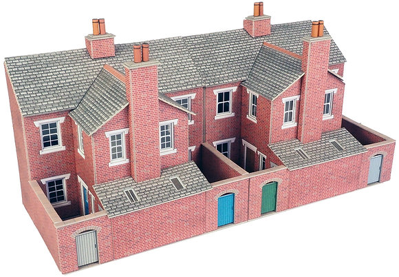 Metcalfe Low Relief Red Brick Terraced House Backs