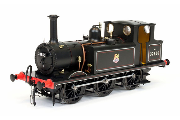 Dapol Class A1X Terrier 32650 BR Lined Black Early Crest EX IOW Fishbourne
