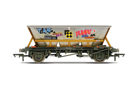 Hornby Railfreight HAA wagon + graffiti - R6961