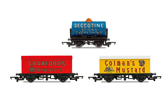 Hornby Crawfords & Seccotine & Colmans Wagon Pack - R6990