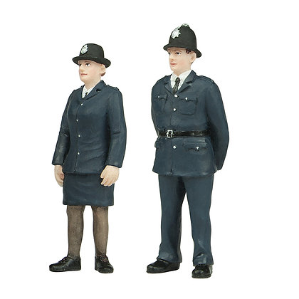 Bachmann O Policeman & Policewoman - 47-407