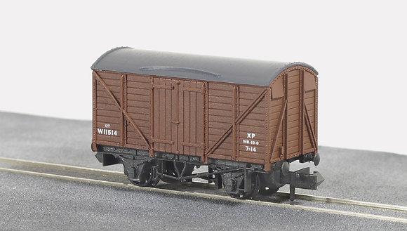 Peco N NR-43B Box Van Stand BR Brown