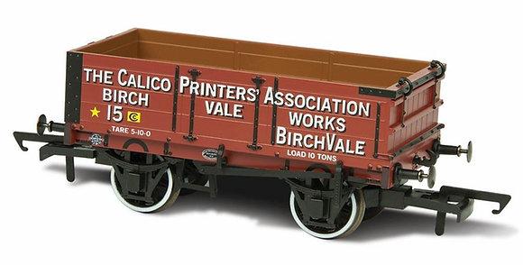 Oxford Rail 4 Plank Callco Printers Wagon - OR76MW4010