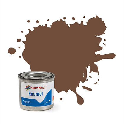 Humbrol Enamel No 98 Chocolate Matt