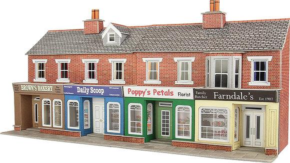 Metcalfe OO Red Brick Terraced Shop Fronts