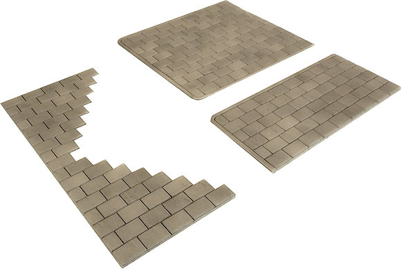 Metcalfe OO Scale Self Adhesive Stone Paving Slabs - PO210
