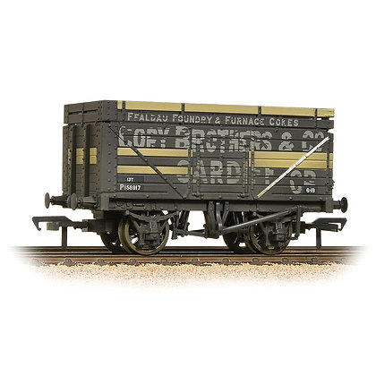 Bachmann OO 7 Plank Wagon With Coke Rails BR Ex-Cory Brothers - 37-185A