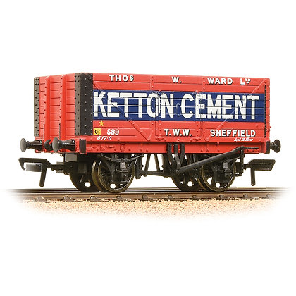 Bachmann OO 8 Plank Wagon Ketton Cement - 37-134B