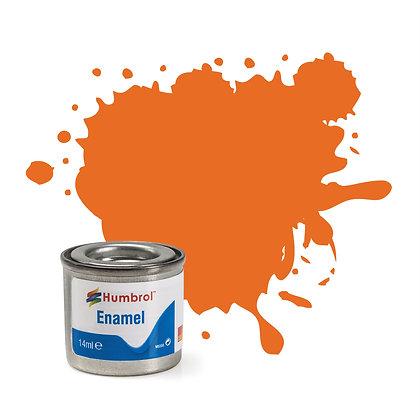 Humbrol Enamel No 18 Orange Gloss