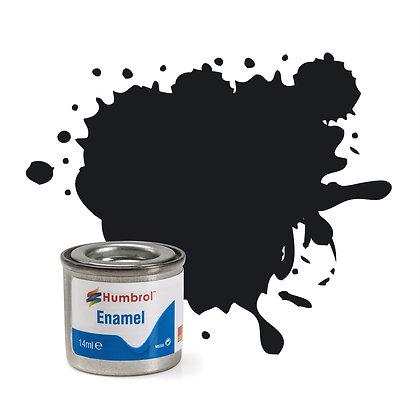 Humbrol Enamel No 21 Black Gloss
