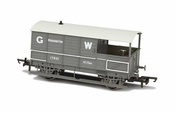 Oxford Rail GWR 4 Wheel Brake Van Paddington - OR76TOB001