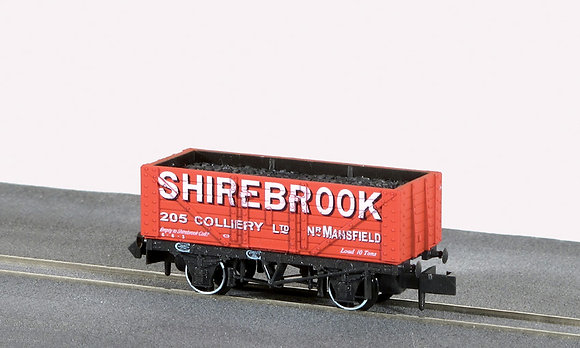Peco N NR-P413 7 Plank Open Wagon Shirebrook Collerie