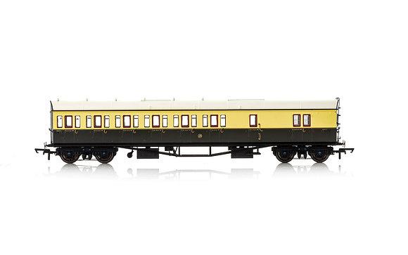 Hornby GWR Collett 57 Suburban Brake 3rd LH 4971 - R4876