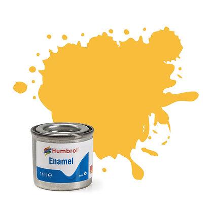 Humbrol Enamel No 24 Trainer Yellow Matt