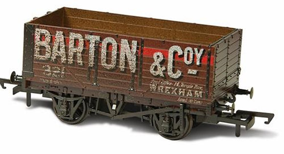 Oxford Rail 7 Plank Barton Wagon Weathered - OR76MW7020W