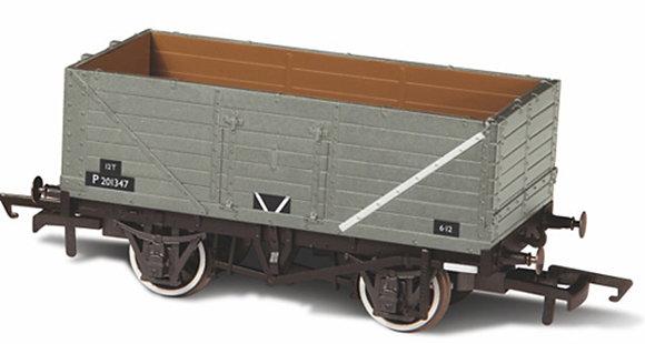 Oxford Rail 7 Plank Wagon BR Grey - 76MW7013