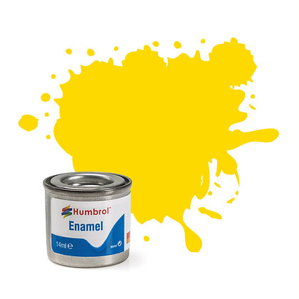 Humbrol Enamel No 69 Yellow Gloss